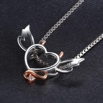 Angel Wing Heart Zircon Necklace | TeresaClare
