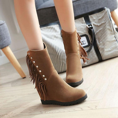 Ankle Boots Women Sexy Suede Flats Zipper | TeresaClare