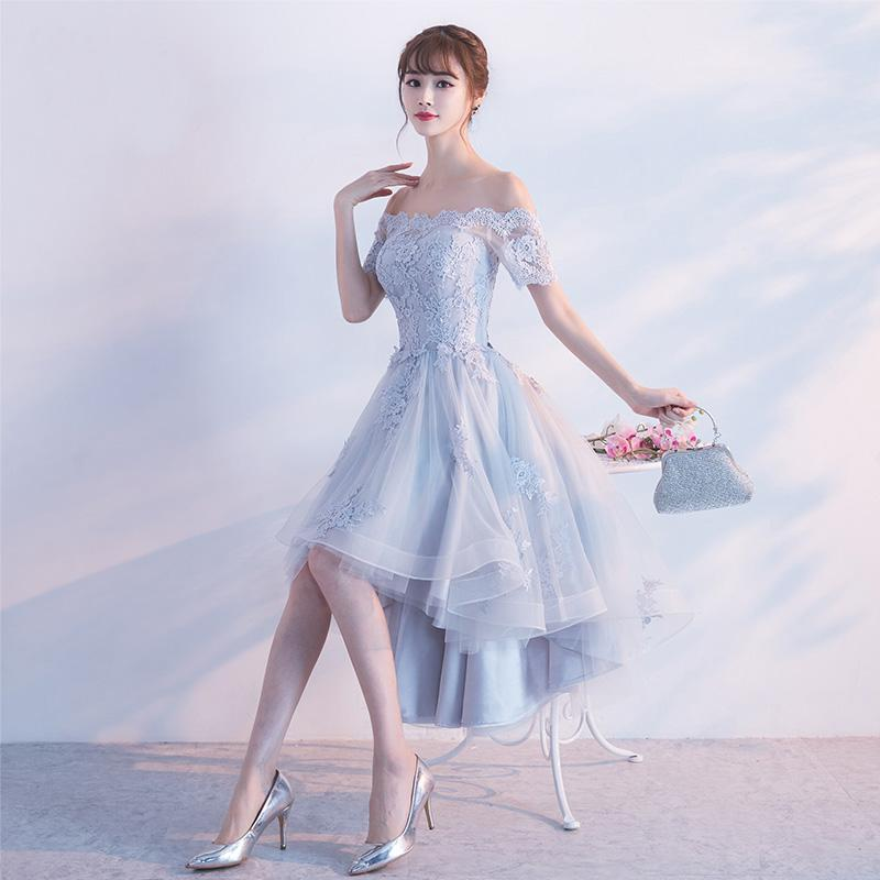 094ae28d3a4 Asymmetrical Ankle-Length Short Sleeved Homecoming Dress On Sale ...
