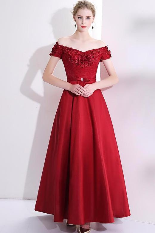 Shop Ball Gown Off The Shoulder Floor Length Prom Dress Now ... ec4651397