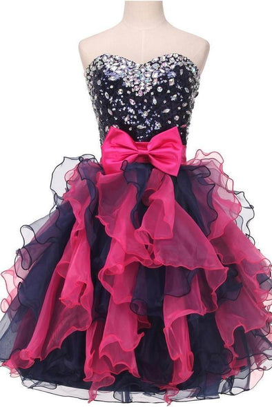 Ball Gowns Organza Sequin Short Sexy Prom Dress | TeresaClare