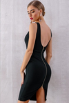 Bandage Tank Sexy Deep V-Neck Sleeveless Bodycon Party Dress | TeresaClare