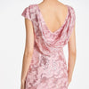 Bateau Pink Cap Sleeves Floor-Length Sheath Evening Dress | TeresaClare