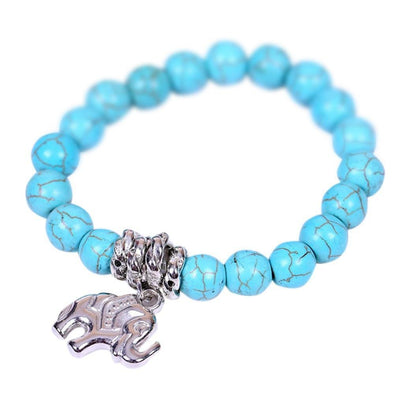 Beaded Elephant Pendant Stretch Bracelet | TeresaClare