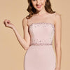 Beading Pearl Pink Scoop Sleeveless Tea Length Cocktail Dress | TeresaClare