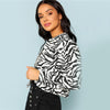 Black And White Highstreet Button Up Hem Crop Jacket | TeresaClare