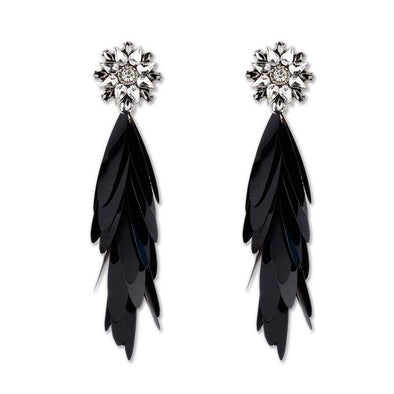Black Boho Crystal Earrings For Women Fashion Statement | TeresaClare