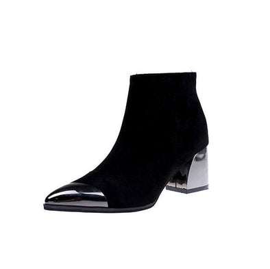 Black Pointed Toe High Heel Women Boots Basic | TeresaClare