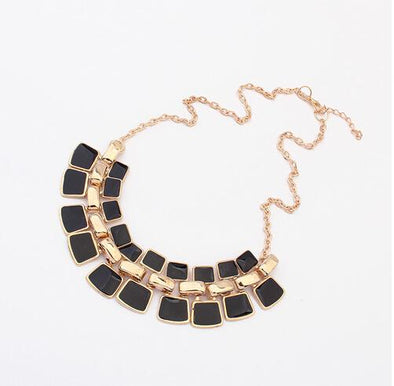 Black Trendy Link Chain Collar Bling And Fashion Necklace | TeresaClare