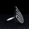Black Water Drop Cubic Zircon Cocktail Ring | TeresaClare