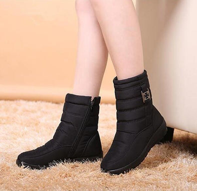 Black Women Winter Waterproof Flexible Snow Boots | TeresaClare