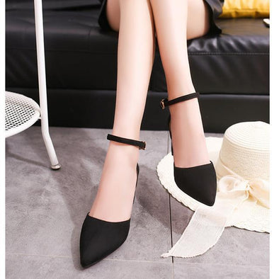 Black Women's Shoes Summer New High Heels Fashion Suede Pumps | TeresaClare