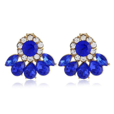 Blue Elegant 5 Colors Crystal Earrings For Women | TeresaClare