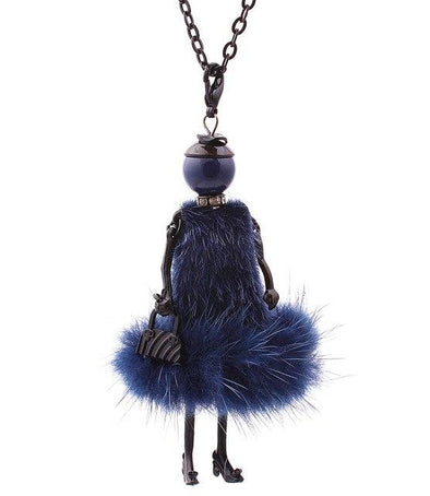 Blue Fashion Doll Baby Necklace Femme Accessories | TeresaClare