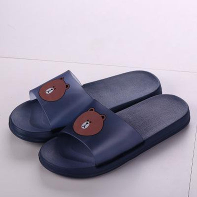 Blue Female Thick Bottom Female Slippers | TeresaClare
