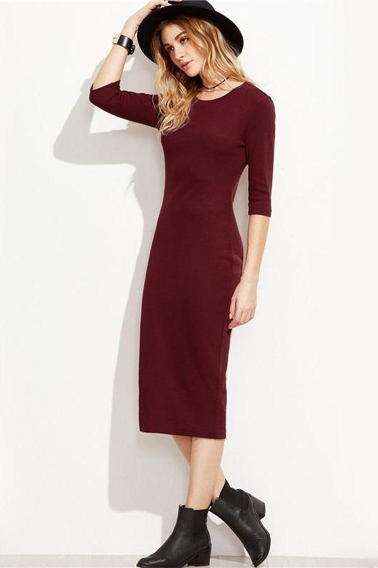 Bodycon Elegant 3/4 Sleeve Pencil Fashion Dress | TeresaClare