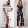 Boho Style Fashion Dress Off-the Shoulder Slash Neck With Floral Print | TeresaClare