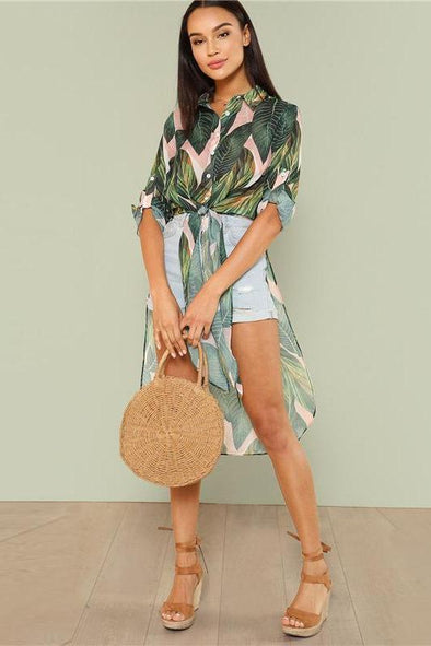 Boho Tropical Print Button Shirts Fashion Blouse | TeresaClare