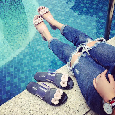 Bottomed Jelly And Transparent Double Slippers | TeresaClare