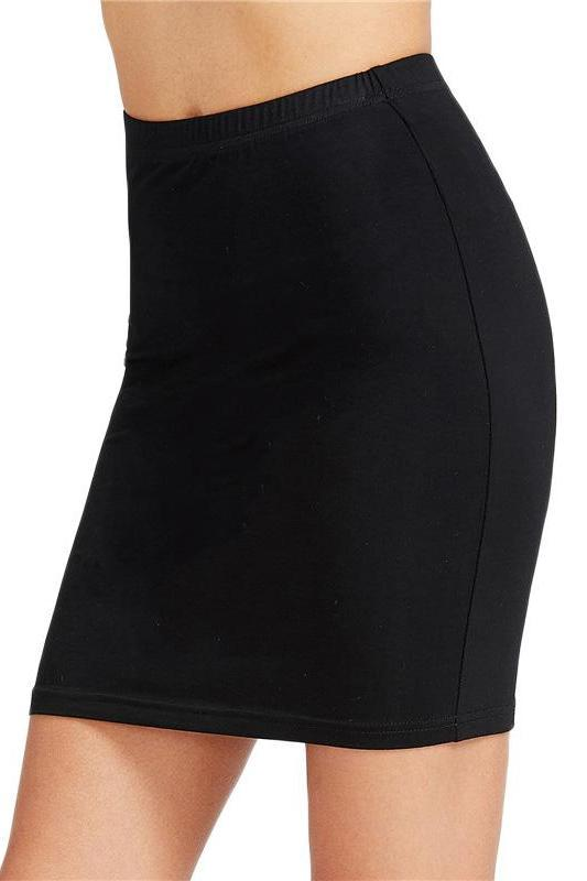 Brief Pencil Black Elastic Waist Slim Sexy Bodycon Skirt | TeresaClare