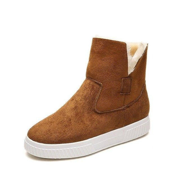 Brown Fashion Solid Faux Suede Warm Women Snow Boots | TeresaClare