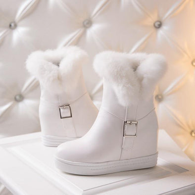Buckle Snow Boots Fashion Fur Suede | TeresaClare