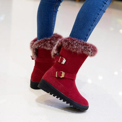 Buckle Warm Snow Boots Wedges Winter Boots | TeresaClare
