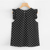 Button Back Shell Polka Dot Top Round Neck Blouse | TeresaClare