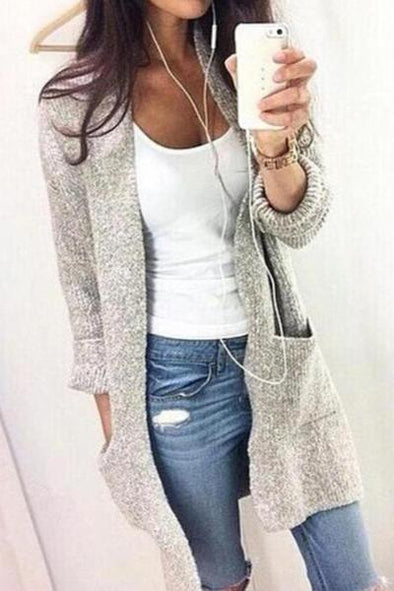 Cardigan V-Neck Long Warm Sweater Coat For Women | TeresaClare