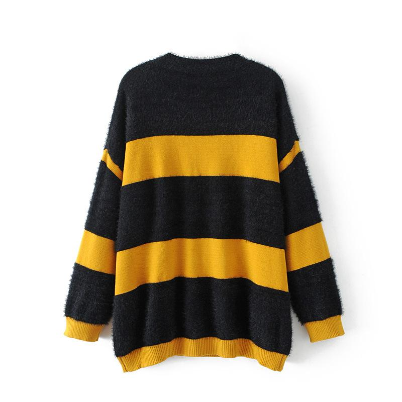 9ae521cafcda Shop Casual Striped Loose Knitwear Jumper Striped Sweater Now! – TeresaClare