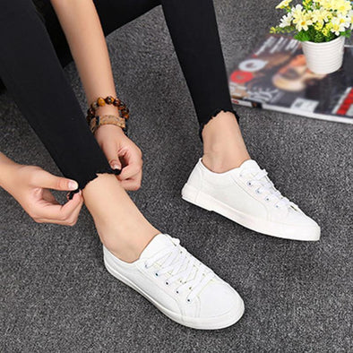 Cloth Low Solid Breathable Women's Leisure Flat Sneakers | TeresaClare