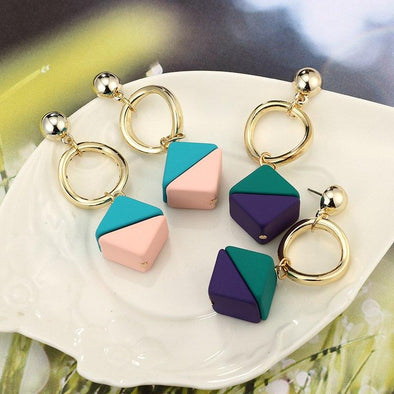 Colorful Resin Fashion Candy Color Earrings | TeresaClare