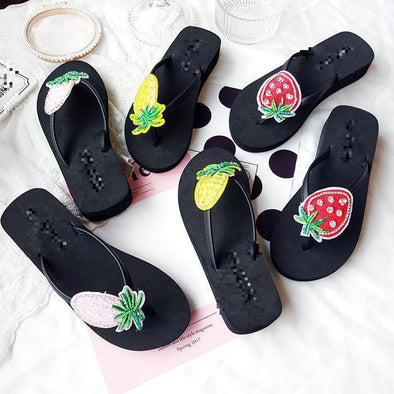 Comfort And Fashion Fruit Flip Female Slippers | TeresaClare