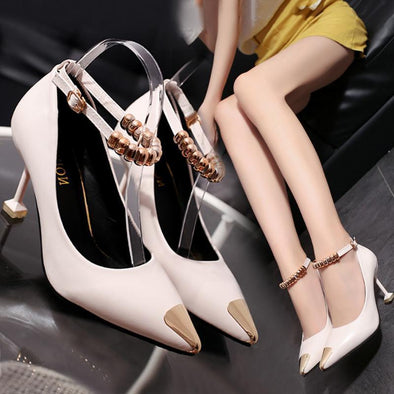 Cream Women's Shoes Fashion PU Leather Pumps | TeresaClare