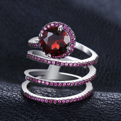 Crimson Wrap S925 Sterling Silver Ring | TeresaClare