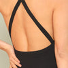 Criss-Cross Back Solid Sleeveless Skinny Stretchy Bodysuit | TeresaClare