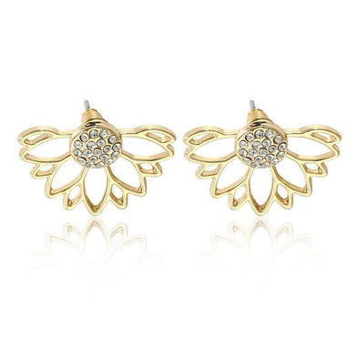 Crystal Daisy Lotus Flower Earring For Women | TeresaClare