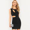 Cut Out Glitter Round Neck High Waist Fashion Dress | TeresaClare