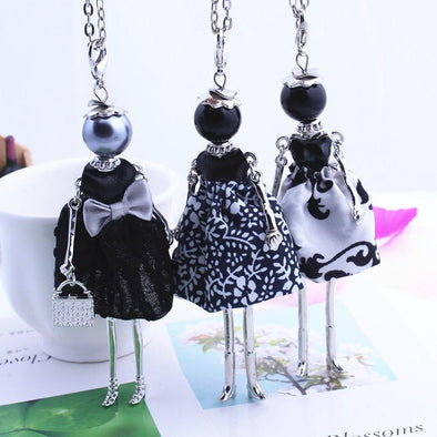 Cute Cloth Bowknot Dress Doll Necklace | TeresaClare