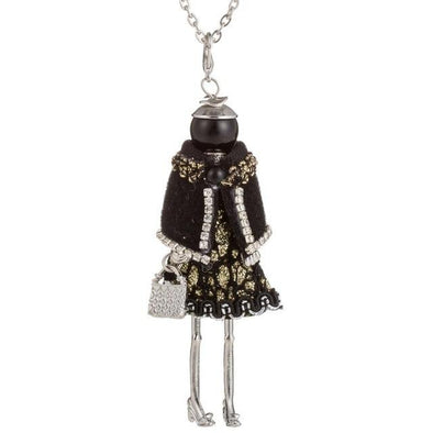 Doll Pendant Necklace Jewelry Lovely Dress Rhinestone | TeresaClare