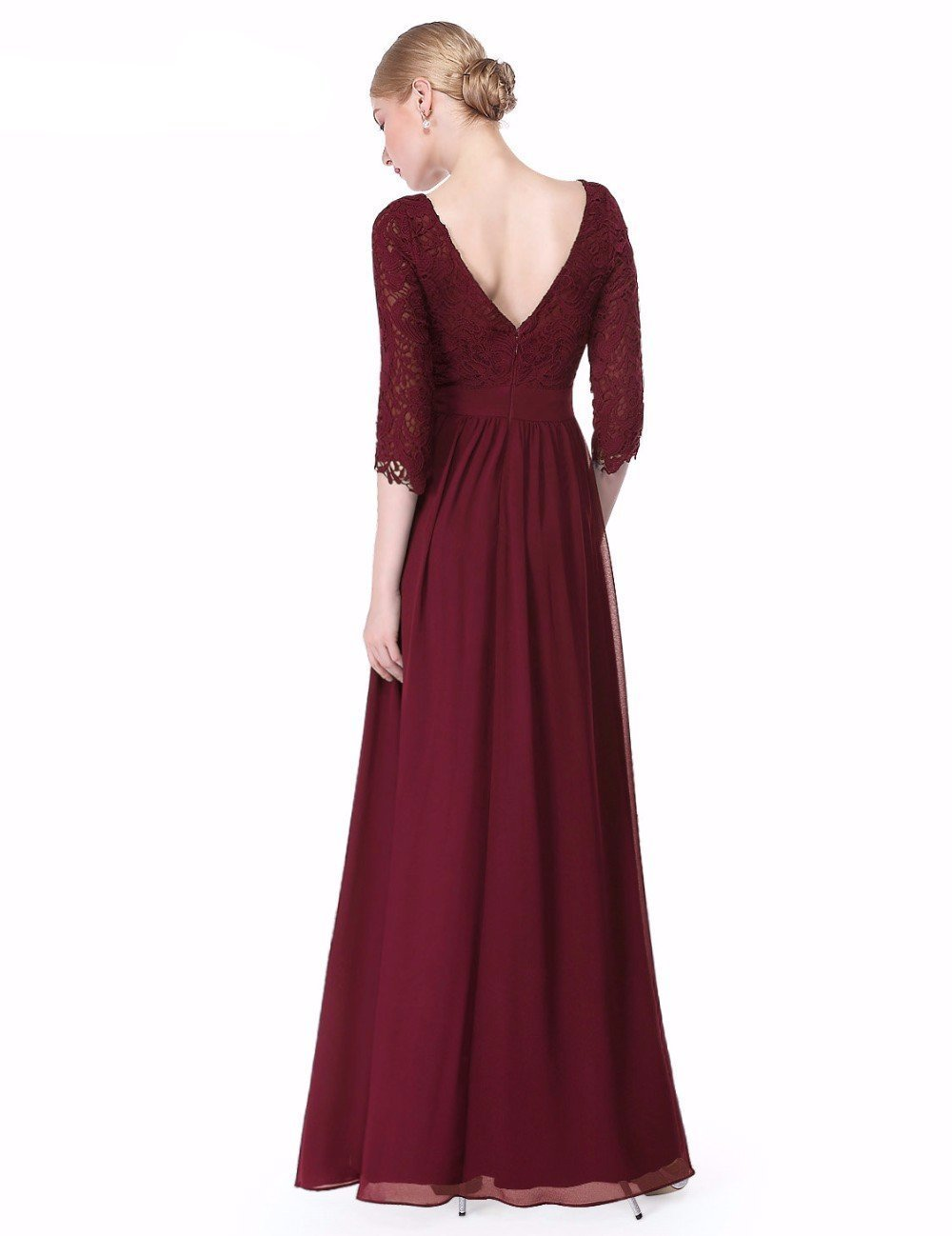 Shop Elegant A-Line Scoop Neck 3 4 Length Sleeves Evening Gown With ... 52bad37fe