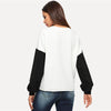 Elegant Color Block Round Neck Tunic Casual Pullover Sweater | TeresaClare
