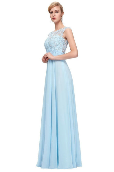 Elegant Floor-Length Long Prom Dress With Beading Sequins | TeresaClare
