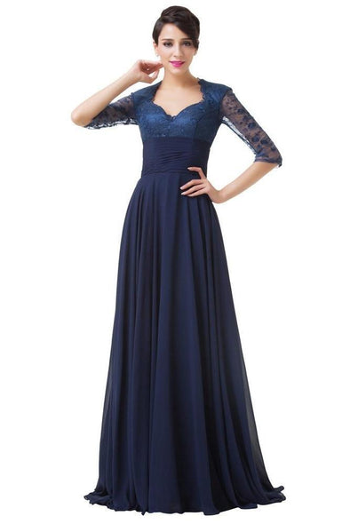 Elegant Long Formal Party Evening Dress With Pleats | TeresaClare