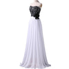 Empire Chiffon Black White Prom Dress With Lace | TeresaClare