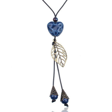 Ethnic Heart Ceramic Pendants Necklace Fashion Jewelry | TeresaClare
