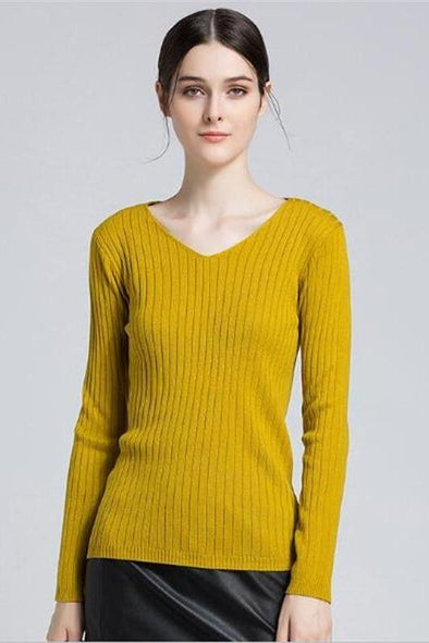 Fashion Candy Color Knitted Pullovers Sweater | TeresaClare