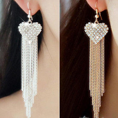 Fashion Chain Gold/Silver Color Long Tassel Earrings | TeresaClare