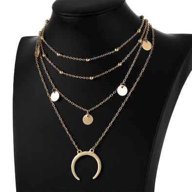 Fashion Gold And Silver Color Horn Pendant Necklaces | TeresaClare