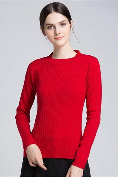 Fashion O-Neck Knitted Pullovers Casual Sweater | TeresaClare